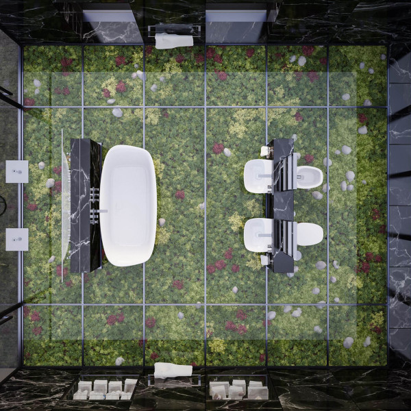Contest project of  modern bathroom