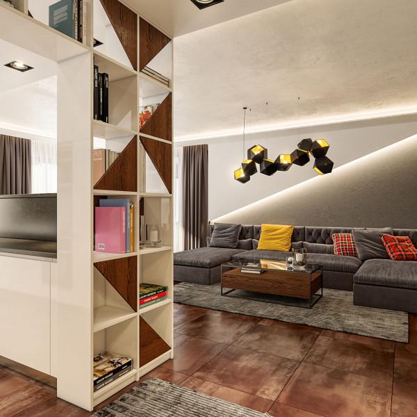 Living room, Modern Apartment in Haskovo