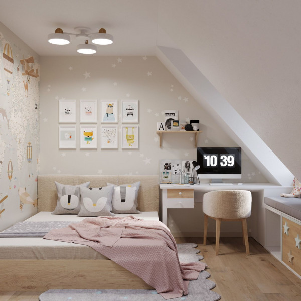 Classic style penthouse, Child room