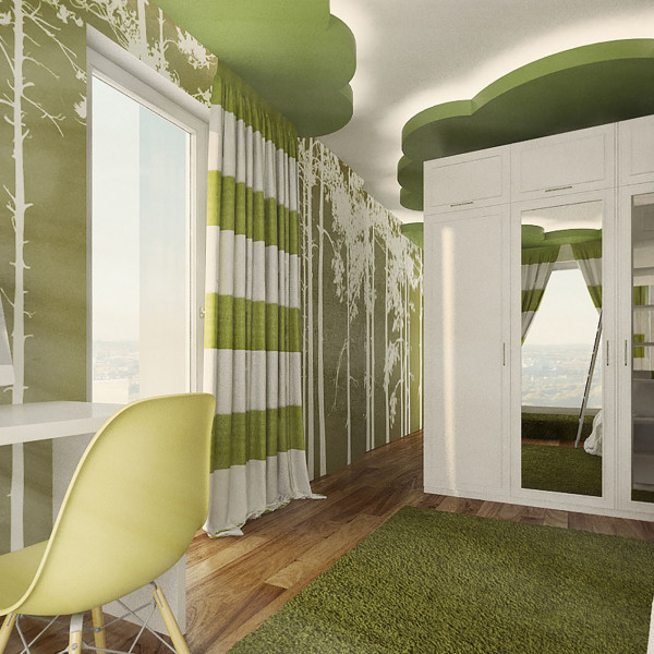 Green kids room, Rustic Apartment in Sofia