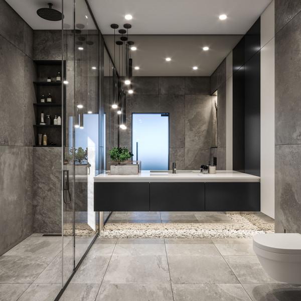 Master bathroom, Seaside House