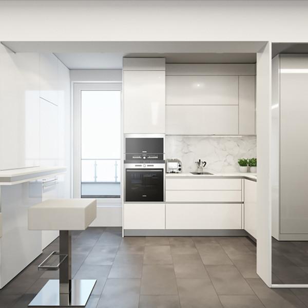 Kitchen, The White Apartment