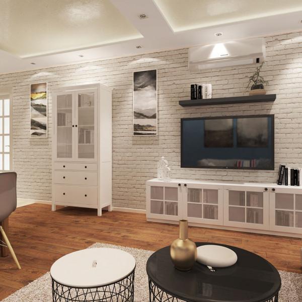 Living room, Rustic Apartment