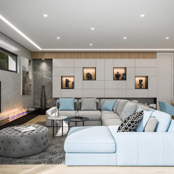 Living room, Seaside House