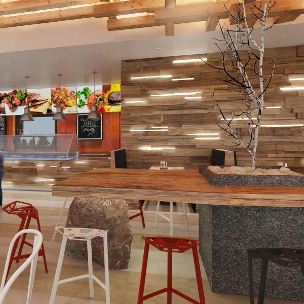 Interior Design Project of Legendary BBQ, 2014