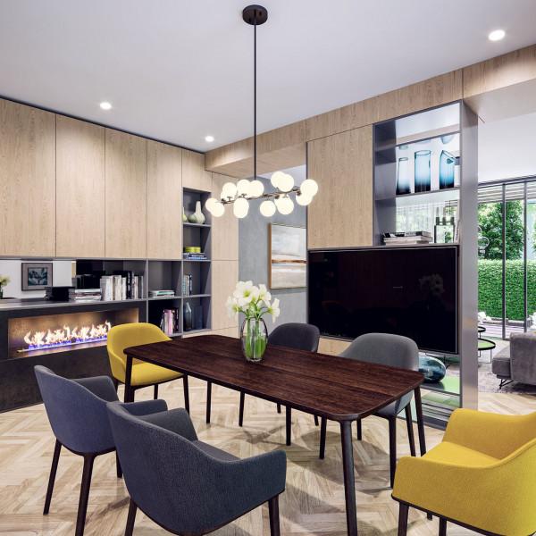 Living room, House