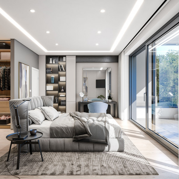 Master bedroom, Seaside House