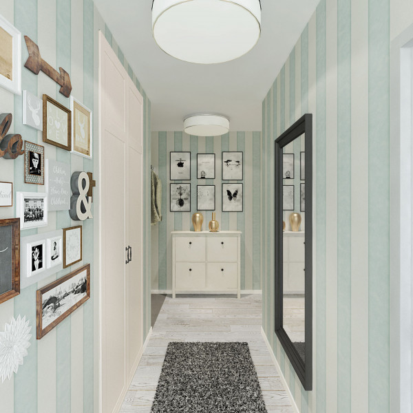Entrance hall, Rustic Apartment Turquoise