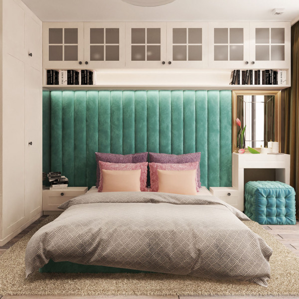 Master Bedroom, Rustic Apartment Turquoise